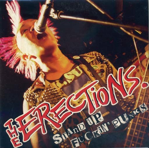 Erection (The): Stand up fuckin' punks EP (blue splatter)