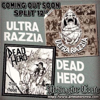 Ultra Razzia/Dead Hero : Split LP